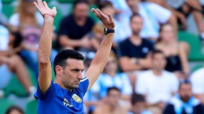 Lionel Scaloni, el entrenador de la selección argentina (Foto: AFP)