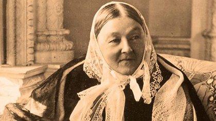 Florence fue la primera mujer condecorada por el Reino Unido