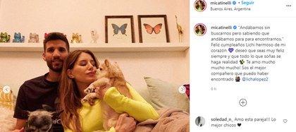 El posteo de Mica en Instagram