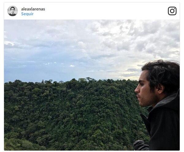 Una de las fotos que el actor Axel Arenas publicó en Instagram durante su viaje a Colombia