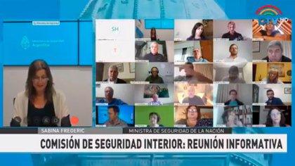 Sabine Frederic reveló que las fuerzas a su cargo hacen ciberpatrullaje en las redes
