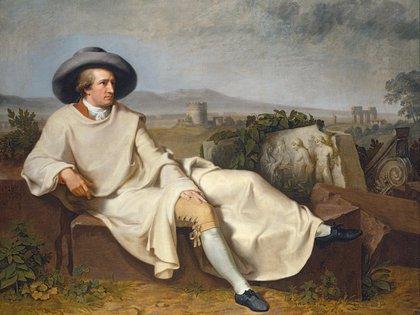 Goethe en la campiña romana (1786), cuadro de Johann Heinrich Wilhelm Tischbein
