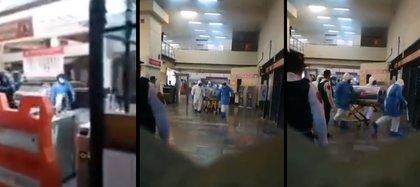 El hombre que se encontraba en el Metro comenzó a tener problemas para respirar (Foto: captura de pantalla)