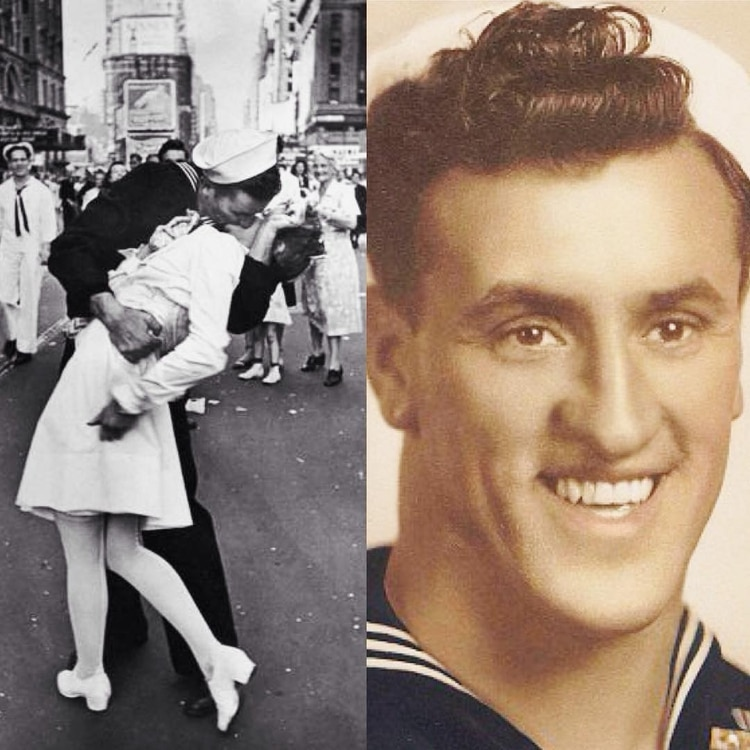 George Mendonsa besó a Greta Zimmer Friedman. (Foto: Especial)