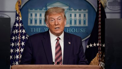 U.S. President Donald Trump speaks to reporters during a news conference inside the James S. Brady Briefing Room at the White House September 27, 2020 in Washington, U.S. REUTERS/Ken Cedeno          NO RESALES. NO ARCHIVES.
