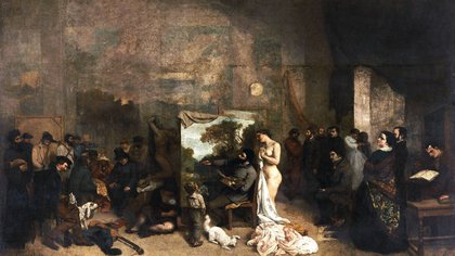 """El taller del pintor"" (1855) de Gustave Courbet"