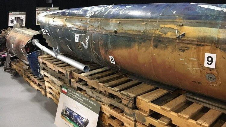 Uno de los misiles de fabricación iraníque suelen usarlos rebeldes hutíes
