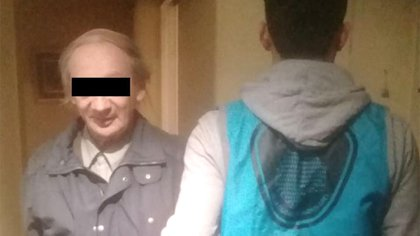 Rodolfo Suárez al ser detenido. Se negó a declarar