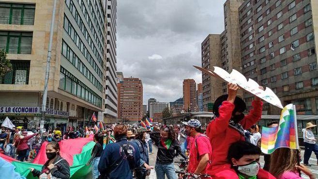 Paro Nacional en Colombia, 21 de octubre de 2020.