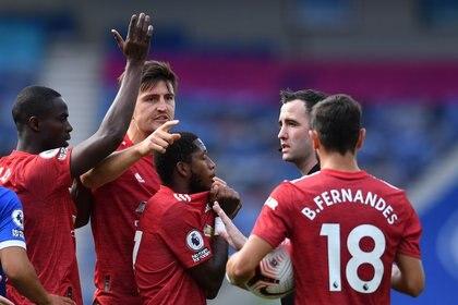 Increíble final en Brighton-Manchester United con la clave presencia del VAR (REUTERS/Glyn Kirk)