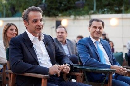 Kyriakos Mitsotakis, primer ministro griego (Greek Prime Minister's Office/Dimitris Papamitsos/Handout via REUTERS)