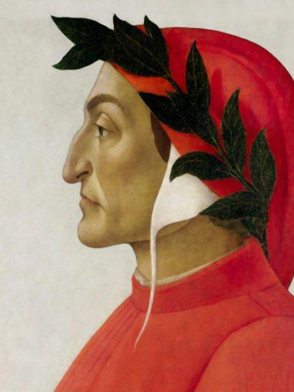 Retrato de Dante Alighieri por Sandro Botticelli