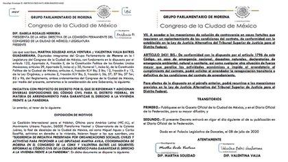 Iniciativa presentada por diputadas de Morena en CDMX
