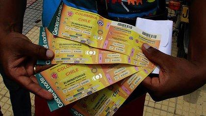 La Federación Colombiana de Fútbol (FCF) fue acusada de reventa de entradas durante las Eliminatorias