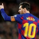 FILE PHOTO: Soccer Football - La Liga Santander - FC Barcelona v Real Sociedad - Camp Nou, Barcelona, Spain - March 7, 2020 Barcelona's Lionel Messi celebrates scoring their first goal REUTERS/Albert Gea/File Photo