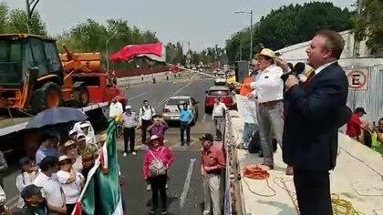 En la imagen, Gilberto Lozano, en un acto durante el sexenio del ex presidente mexicano, Enrique Peña Nieto (Foto: Facebook Gilberto Lozano)