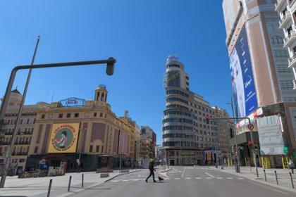 La Gran Vía de Madrid vacía en abril POLITICA EUROPA ESPAÑA SOCIEDAD JOSE OLIVA / JOSE OLIVA