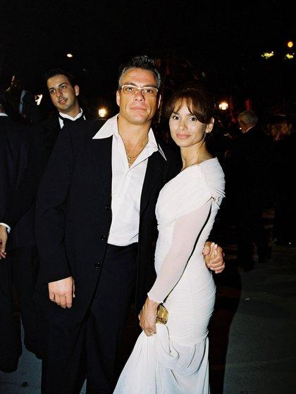 Van Damme y Gladys Portugues (Shutterstock)