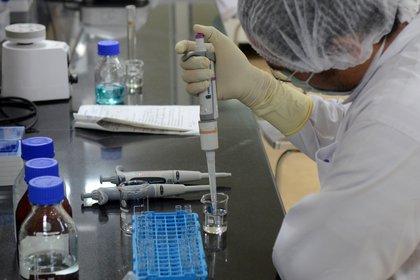 Un científico trabaja en una vacuna contra el covid-19. Foto: REUTERS/Euan Rocha
