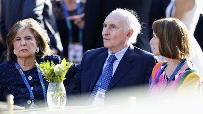 El ex presidente de la Nación, Fernando De la Rúa, en la gala del Teatro Colón durante el G20
