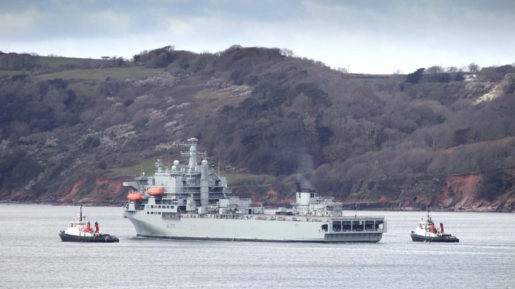 El buque auxiliar británico RFA Argus (royalnavy.mod.uk)