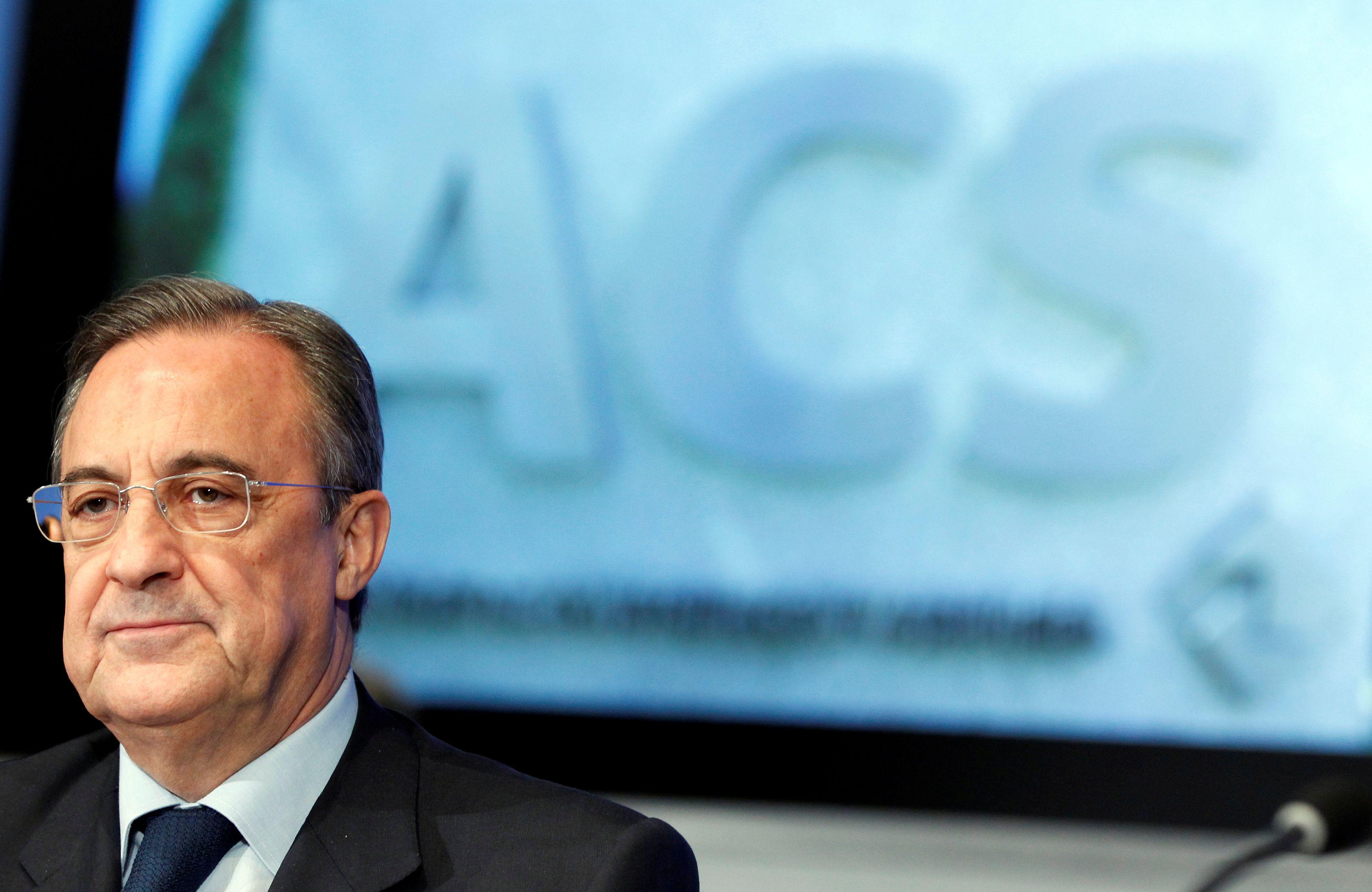 Florentino Pérez, presidente del Real Madrid y de la Superliga europea (REUTERS/Sergio Perez/File Photo)