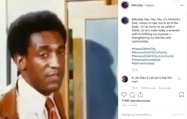 Bill Cosby fue duramente criticado por publicar mensaje del Día del Padre en Instagram