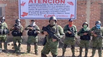 The Jalisco Nueva Generación Cartel (CJNG), the most powerful criminal organization in Mexico, has been in the expansion phase in the state for at least 14 months, and it does not seem that anything is going to stop it (Photo: Screenshot)