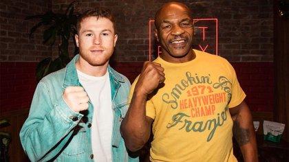 Mike Tyson apoya a Canelo en su pelea contra Saunders (Foto: Instagram@miketyson)