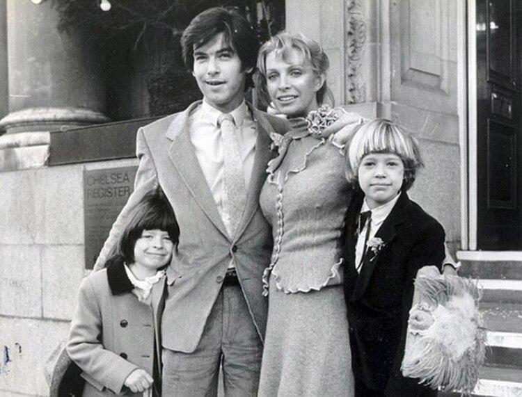 Pierce Brosnan, el día de su casamiento con Cassandra