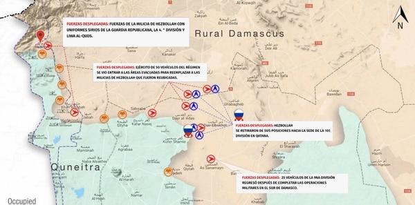 La oposición siria detalló en un mapa las zonas que deben abandonar Hezbollah e Irán