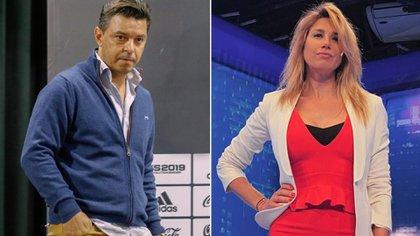Marcelo Gallardo y Alina Moine (Fotos: Nicolás Aboaf y Instagram)