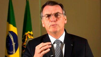 Jair Bolsonaro grabó un mensaje sobre el Amazonas este 23 de agosto para que sea transmitido por medios de comunicación y redes sociales