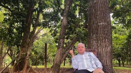 El presidente Andrés Manuel López Obrador en su rancho de Palenque, Chiapas, en septiembre de 2020 (Foto: Captura de pantalla)