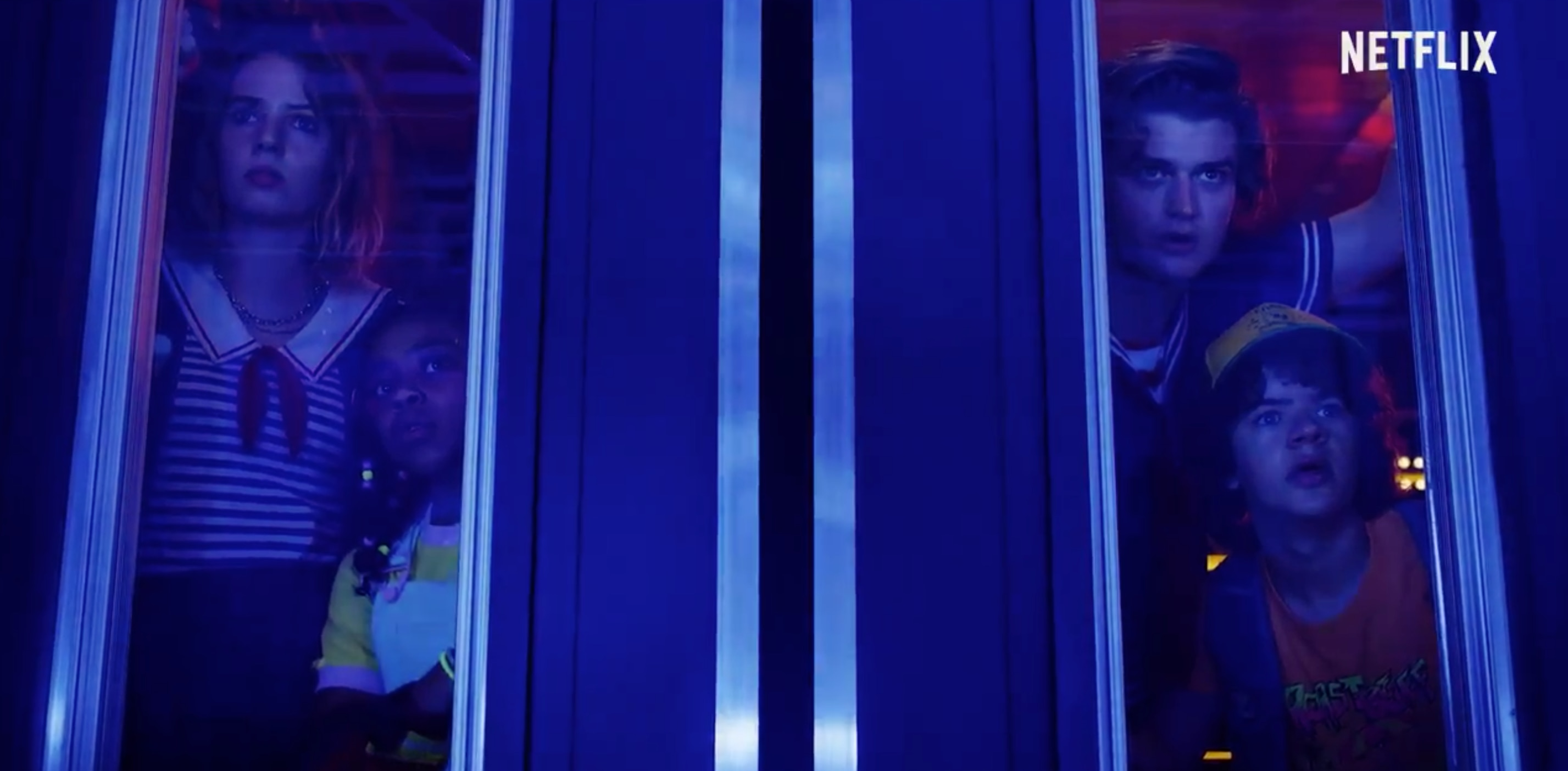 Los protagonistas de la serie se protegen de la amenaza del Demagorgon (Foto: Netflix)