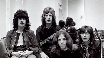 La formación clásica de Badfinger en 1970: Tom Evans, Pete Ham, Mike Gibbins y Joey Molland