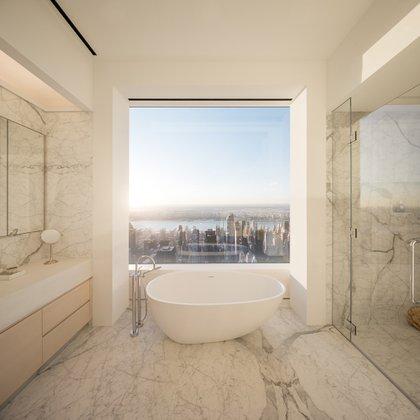 Vista desde uno de los baños del rascacielos.