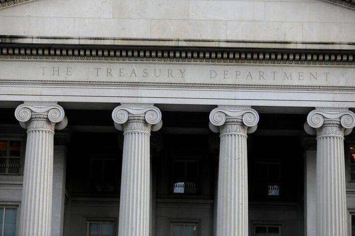 Foto de archivo del Departamento del Tesoro en Washington.  Ago 30, 2020. REUTERS/Andrew Kelly
