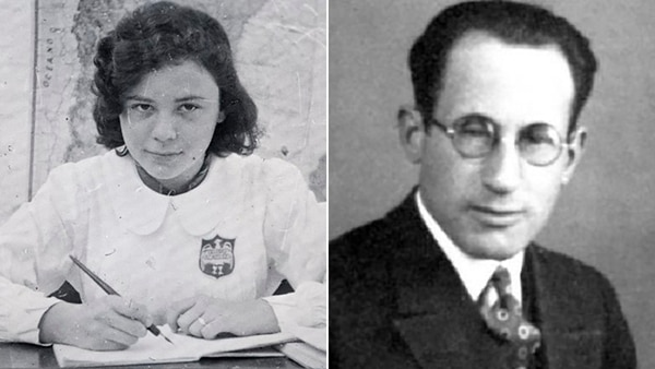 Sylvia Hermann y Adolf Eichmann