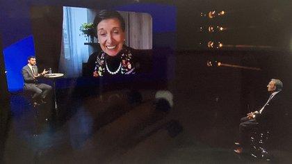 """Delia Ferreira Rubio y Alberto Garay disertantes en el panel """"Justicia y República"""", bajo la moderación de Diego Leuco"""