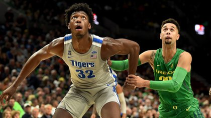 James Wiseman, de Tigers, para muchos el mejor universitario y principal candidato a N° 1 del draft 2020, envuelto en un debate sobre el deporte amateur.(AFP)