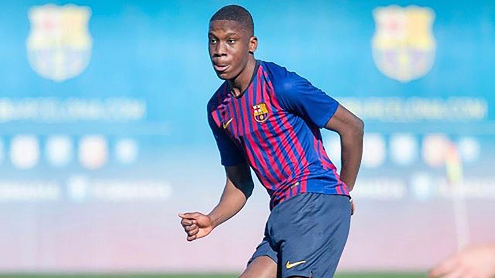 Moriba tiene 17 años y es una de las promesas de la cantera del Barcelona (@ilaixmk)