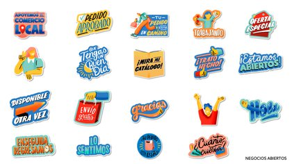 Se sumaron stickers pensados para negocios