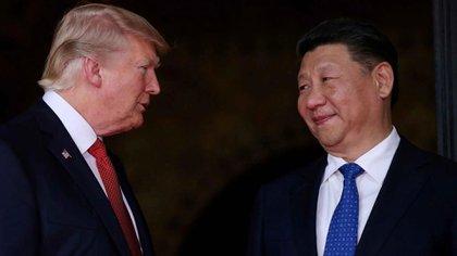 Donald Trump y Xi Jinping, presidente de China (Foto: Archivo)