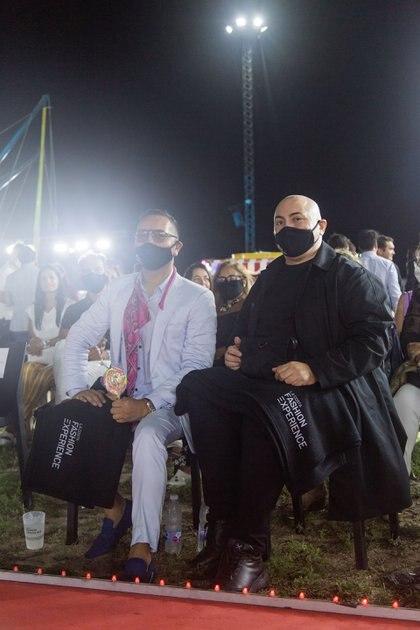 Fabián Medina Flores y el diseñador Pablo Ramirez