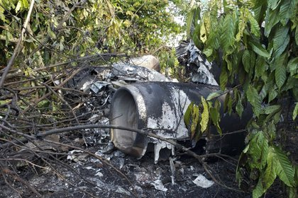 La aeronave despegó cerca de las 11:00 horas del Aeropuerto Mariano Matamoros, en Cuernavaca, México (Foto: Guatemala's Army/AFP)