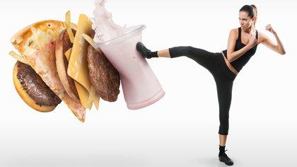 Un tercio de las personas informaron comer bocadillos y bebidas no saludables al menos una vez al día (35%)