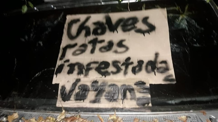 El mensaje intimidante que incluyó el acto vandálico contra la jefa de terapia intensiva.