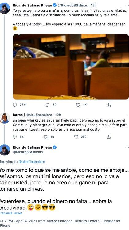 (Foto: Captura de pantalla / Twitter @RicardoBSalinas)