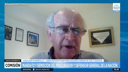 Oscar Parrilli, presidente de la comisión de Justicia